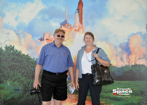 Pat and Kathy Meehan at the Kennedy Space Center
