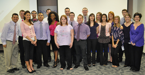 image of students from the marketing class