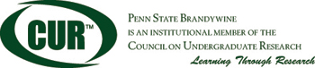CUR logo indicating that Penn State Brandywine is a member of the Council on Undergraduate Research