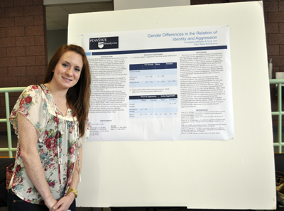 Annabella Gallagher with her poster