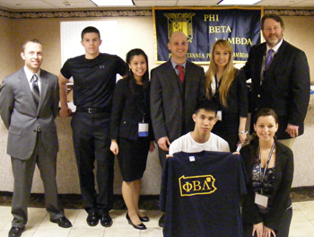 group phot of Phi Beta Lambda students and adviser