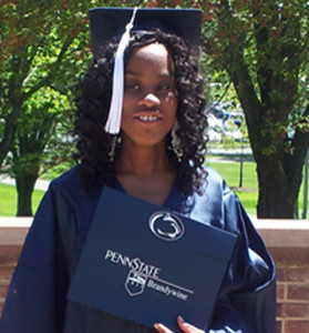 Sophia Obinyan in her cap and gown