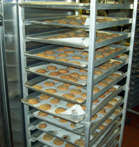 racks of cookies