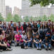 Group photo of students who went to New York