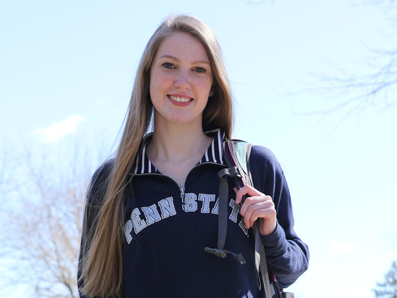female Brandywine student