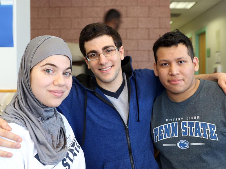 three Brandywine students