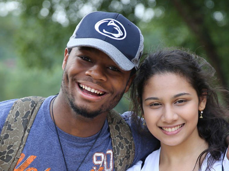 male and female brandywine students smiling