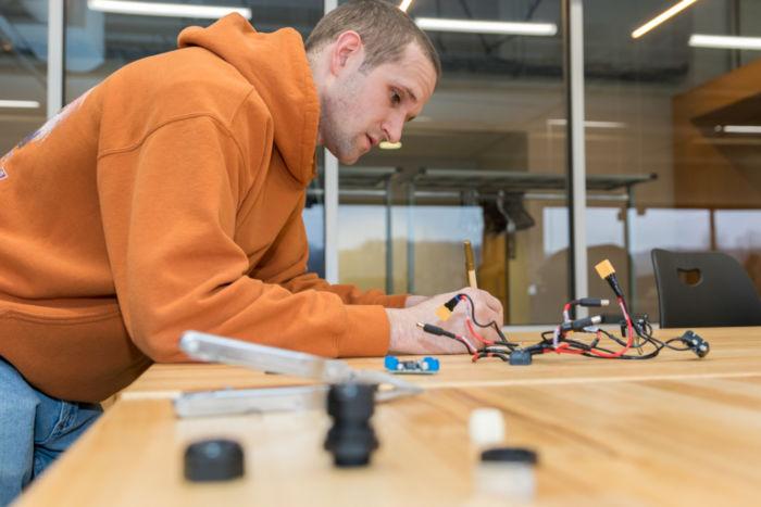 Donald Fay builds robot