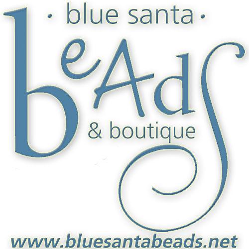 Blue Santa Beads logo
