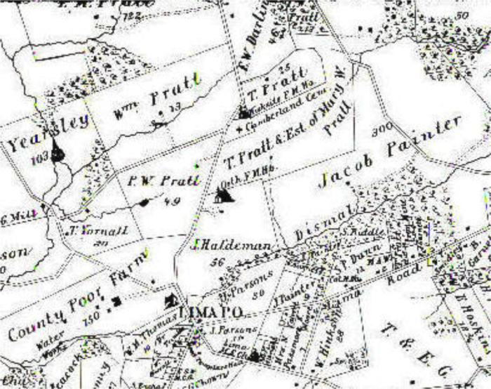 Map of Middletown Township, founded 1686