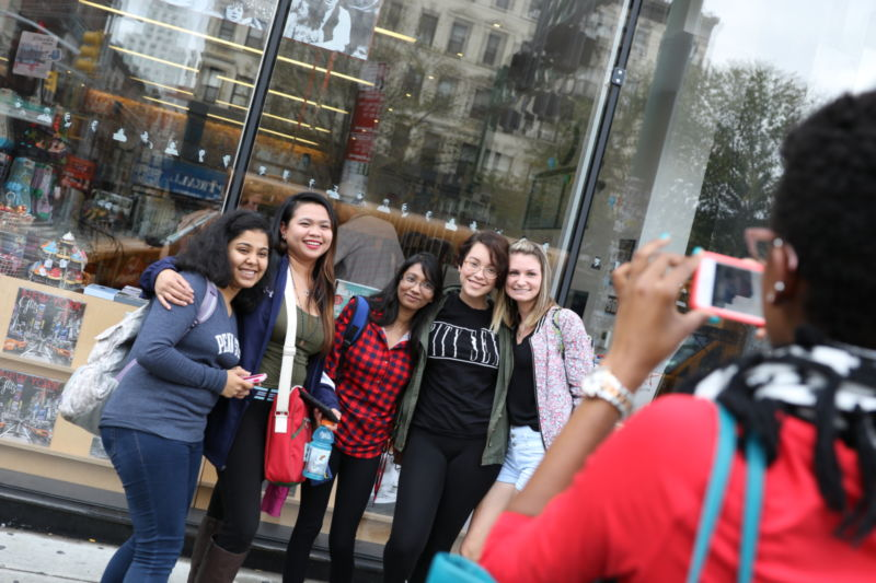 Students pose for a photo in New York.