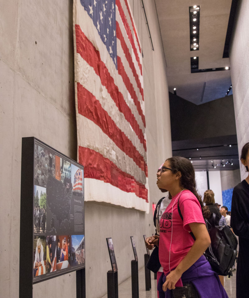 Students tour the 9/11 Museum
