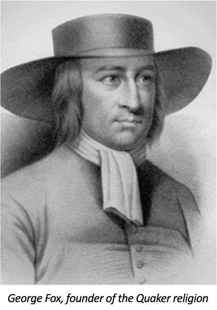 George Fox, founder of the Quaker religion