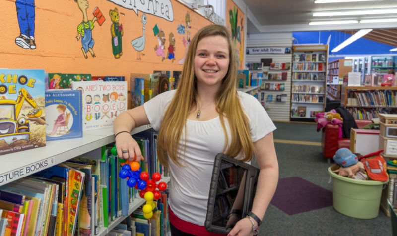 Lauren Lomas at the Middletown Free Library