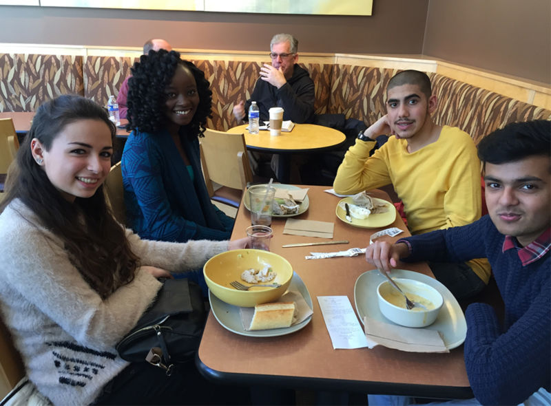 Some students grabbed lunch at Panera before heading to the Reading Terminal Market for dessert.