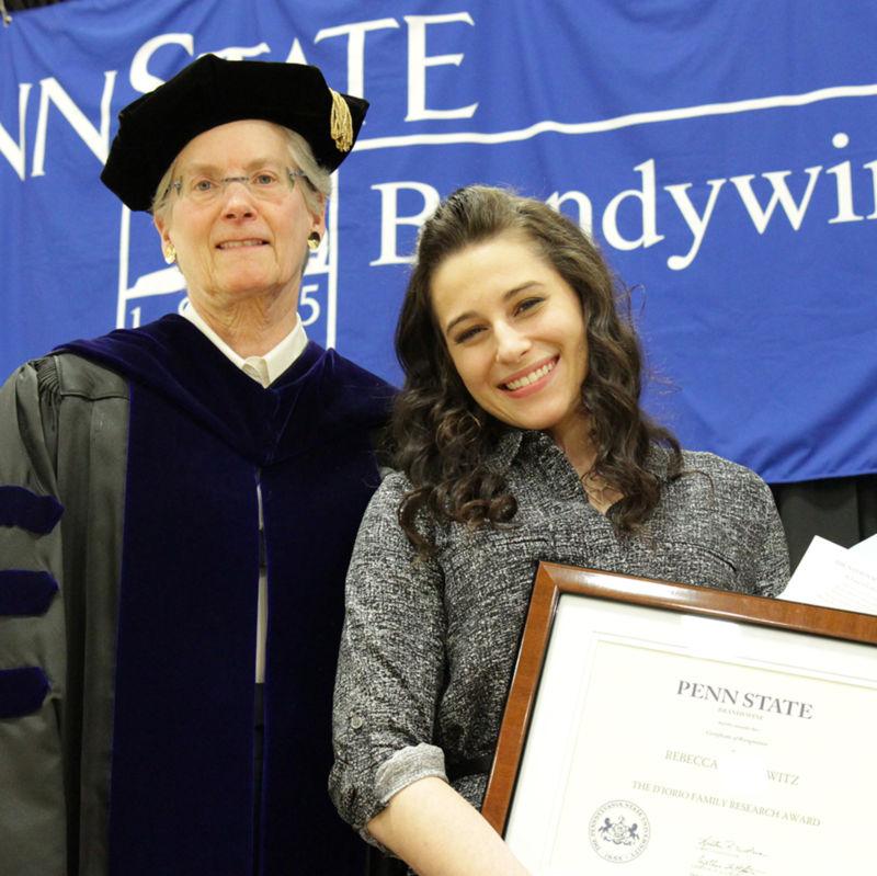 Chancellor Kristin Woolever and Rebecca Slomowitz