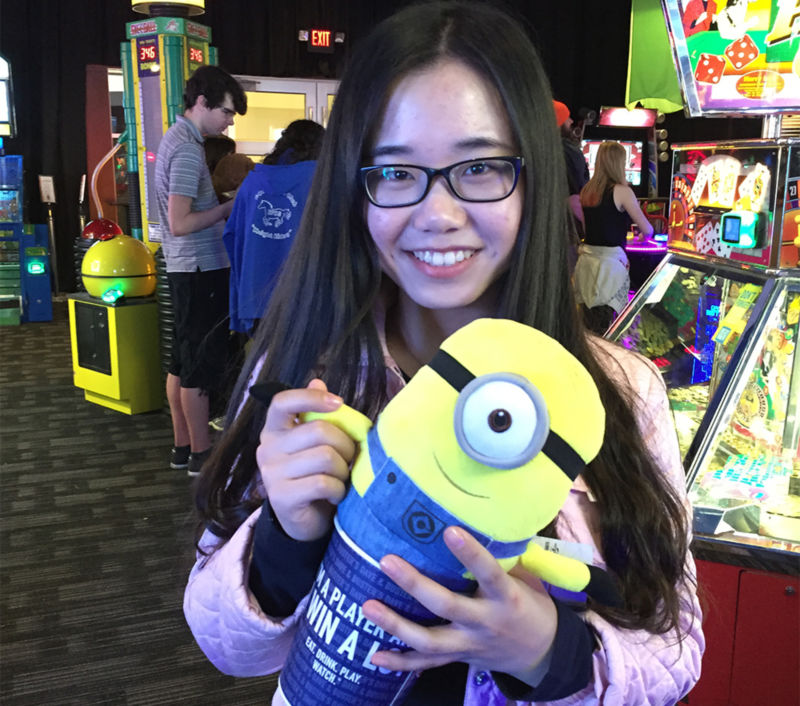 At Dave & Buster's, students could play games and win prizes.
