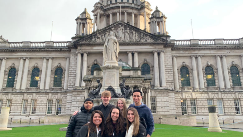 Penn State Brandywine students in Northern Ireland.
