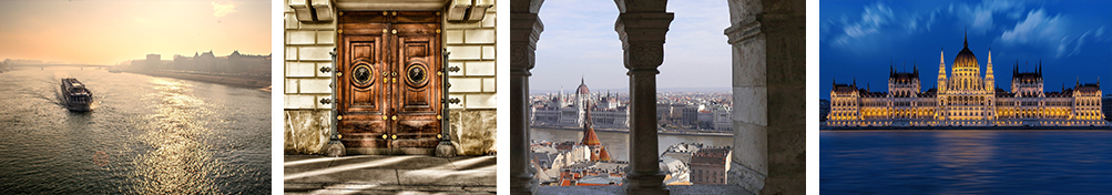 Photos of Vienna and Budapest.